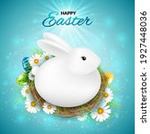 happy easter greeting card with ...   Shutterstock .eps vector #1927448036