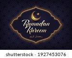 ramadan kareem vector... | Shutterstock .eps vector #1927453076