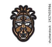 tiki mask in samoan style. good ... | Shutterstock .eps vector #1927455986