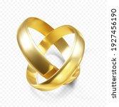 couple of golden wedding rings. ...   Shutterstock .eps vector #1927456190