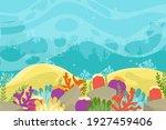 under the sea background....   Shutterstock .eps vector #1927459406