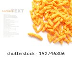 Crunchy Cheese Snacks Isolated...