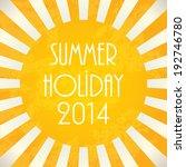 summer background   2014 ... | Shutterstock .eps vector #192746780
