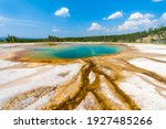 Turquoise Pool In Midway Geyser ...