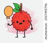 vector illustration of lychee... | Shutterstock .eps vector #1927495796