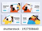 set of presentation slide... | Shutterstock .eps vector #1927508660