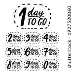 days to go. handwritten numbers ...   Shutterstock .eps vector #1927520060