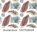 tropical palm leaves hand drawn ...   Shutterstock .eps vector #1927528439