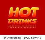 vector bright emblem hot drinks.... | Shutterstock .eps vector #1927539443