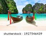 Beautiful Beach With Thai...