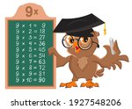 multiplication table 9 time owl ...   Shutterstock .eps vector #1927548206