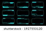 outline frame futuristic modern ...   Shutterstock .eps vector #1927553120