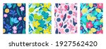 set of cover templates with... | Shutterstock .eps vector #1927562420