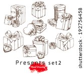 gifts  vector hand drawing | Shutterstock .eps vector #192756458