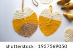 Leaf Macromes Made Of Yellow ...