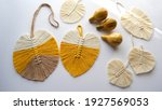 Leaf Macrame Made Of Yellow ...