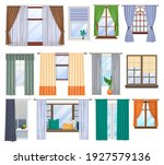 window and curtains  blind... | Shutterstock .eps vector #1927579136
