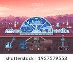 mars colonization  space planet ...   Shutterstock .eps vector #1927579553