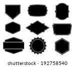 black vector shape  template... | Shutterstock .eps vector #192758540