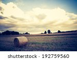 vintage photo of bale of straw... | Shutterstock . vector #192759560