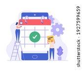 planning schedule  business...   Shutterstock .eps vector #1927599659