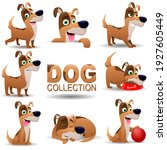 Collection Of Dogs In Cartoon...