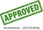 approved green square rubber... | Shutterstock .eps vector #1927615946