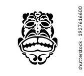 mask in the style of hawaiian... | Shutterstock .eps vector #1927616600