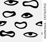 abstract eyes boho seamless... | Shutterstock .eps vector #1927621913