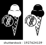 vector image. gluten free ice... | Shutterstock .eps vector #1927624139