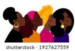 black women together  beauty... | Shutterstock .eps vector #1927627559