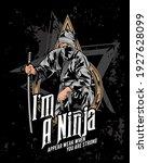 ninja squad character  ninja... | Shutterstock .eps vector #1927628099