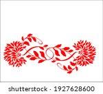 vector floral handmade fashion... | Shutterstock .eps vector #1927628600