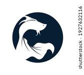 betta fish logo vector... | Shutterstock .eps vector #1927632116
