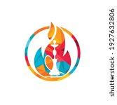hookah fire vector logo design. ... | Shutterstock .eps vector #1927632806