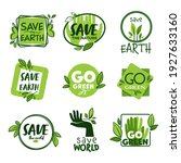 save planet and go green ... | Shutterstock .eps vector #1927633160