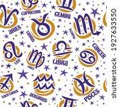 vector astrology seamless... | Shutterstock .eps vector #1927633550