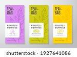 exotic fruits tea labels set.... | Shutterstock .eps vector #1927641086