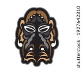tiki mask in samoan style. good ... | Shutterstock .eps vector #1927642310