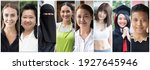 Small photo of Collage of diverse and inclusive women from around the world, concept of international women's day, world women with diversity and inclusivity, ethnicity and religion tolerance, women's right