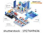 smart city isometric concept.... | Shutterstock .eps vector #1927649636