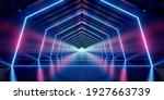 Illuminated Corridor Interior...