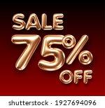 3d golden 75 percent discount... | Shutterstock .eps vector #1927694096
