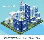 isometric city vector.smart...   Shutterstock .eps vector #1927696769