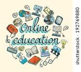 online education e learning... | Shutterstock .eps vector #192769880