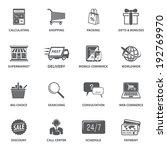 e commerce shopping icons set... | Shutterstock .eps vector #192769970