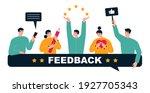 customer feedback  testimonial  ...   Shutterstock .eps vector #1927705343