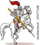 knight attacking | Shutterstock .eps vector #19277128