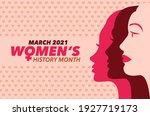 march 2021 women's history...   Shutterstock .eps vector #1927719173