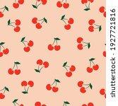 cherry seamless vector pattern. ... | Shutterstock .eps vector #1927721816